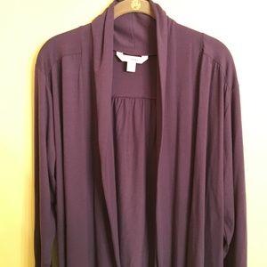 Old Navy Purple shawl collar cardigan